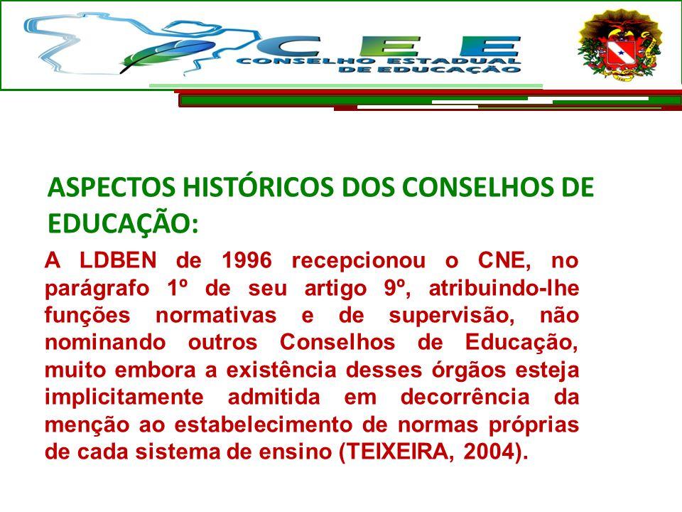 ASPECTOS HISTÓRICOS DOS CONSELHOS DE EDUCAÇÃO: