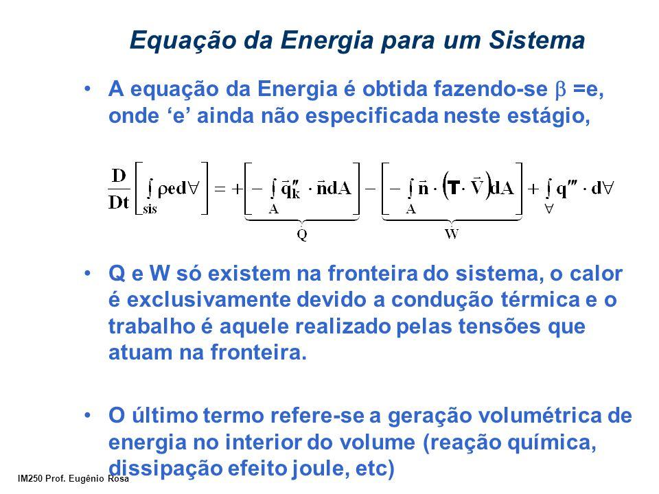 Equação da Energia para um Sistema