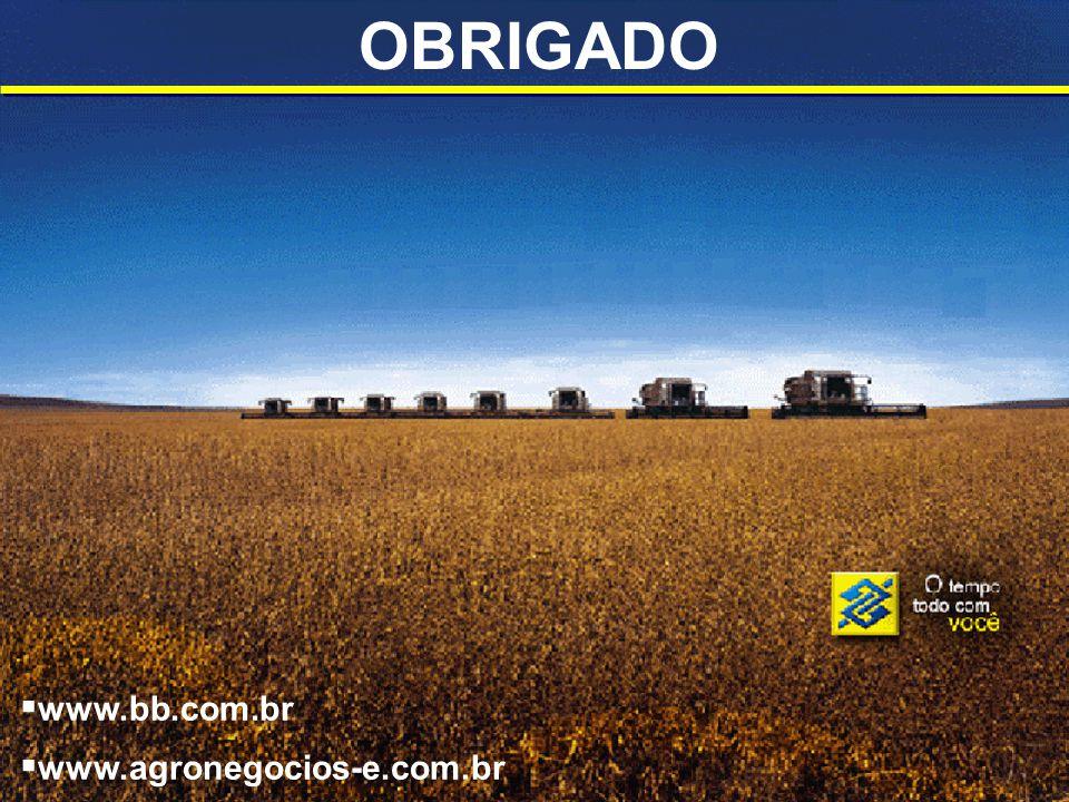 OBRIGADO www.bb.com.br www.agronegocios-e.com.br