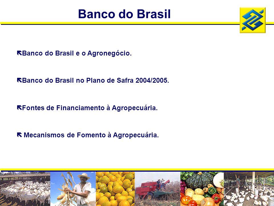 Banco do Brasil Banco do Brasil e o Agronegócio.