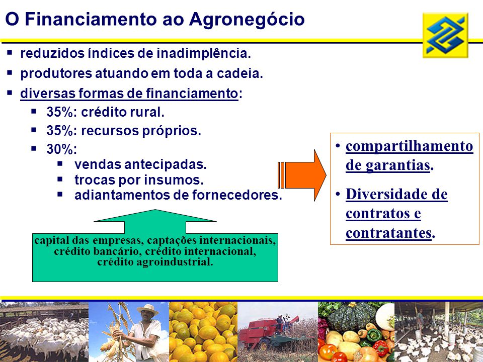 O Financiamento ao Agronegócio