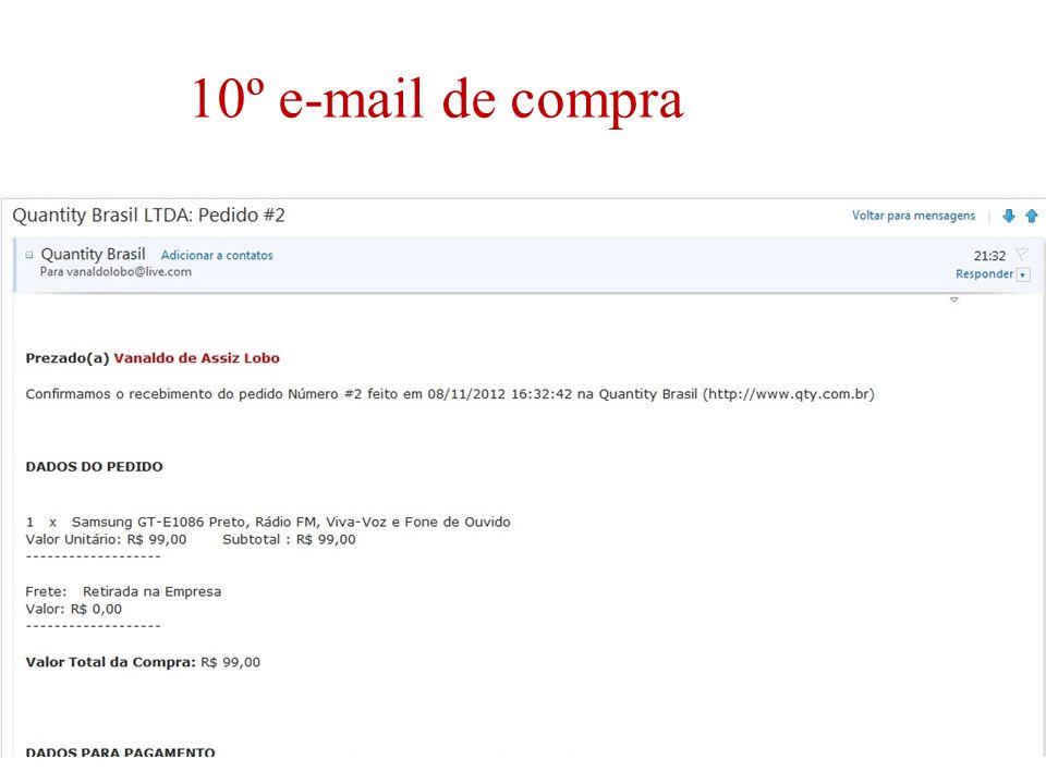 10º e-mail de compra
