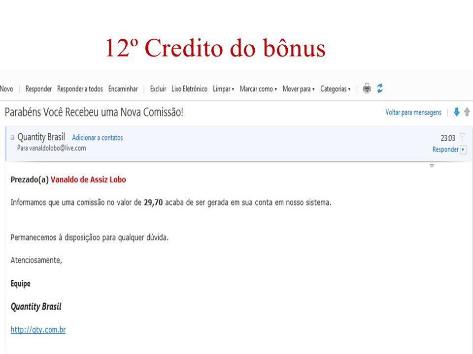 12º Credito do bônus
