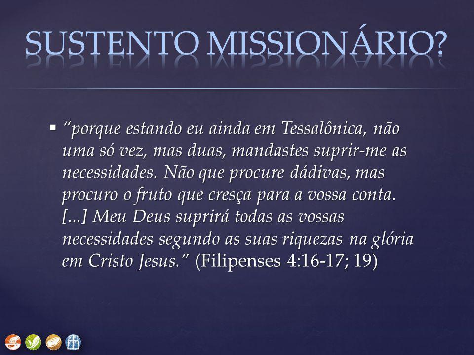 SUSTENTO MISSIONÁRIO