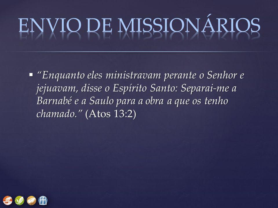 ENVIO DE MISSIONÁRIOS