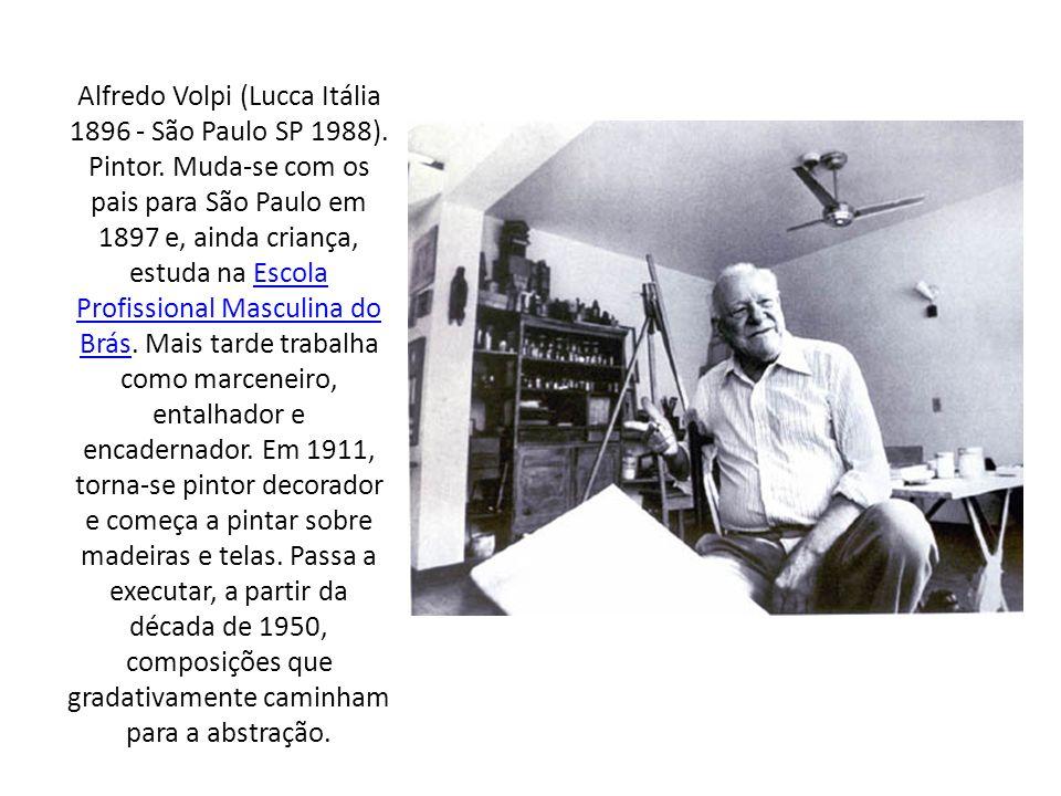 Alfredo Volpi (Lucca Itália 1896 - São Paulo SP 1988). Pintor