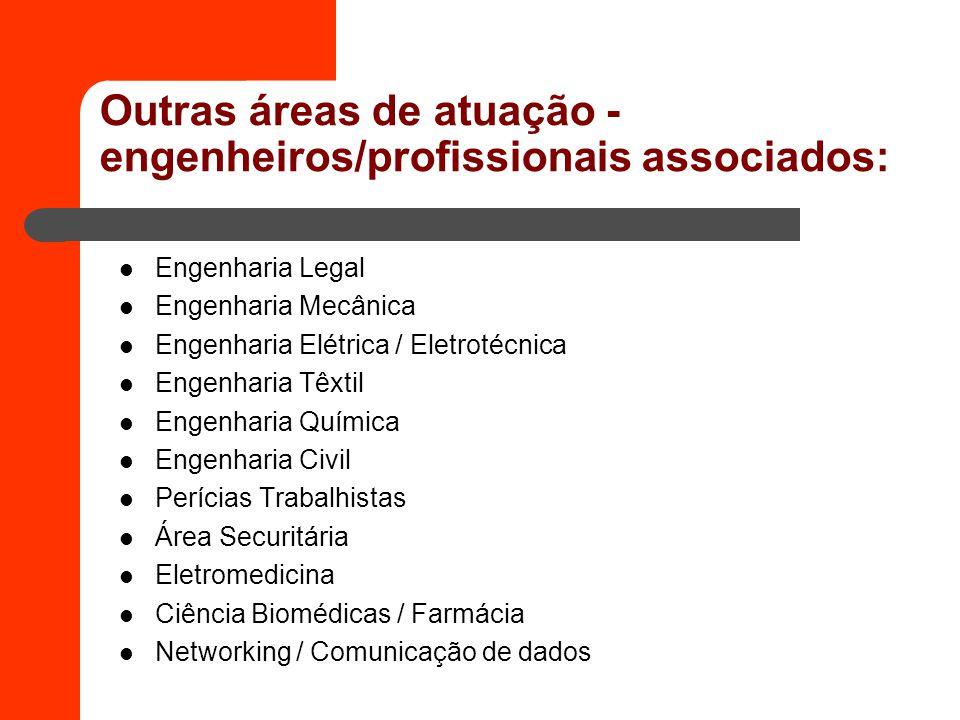 Outras áreas de atuação -engenheiros/profissionais associados:
