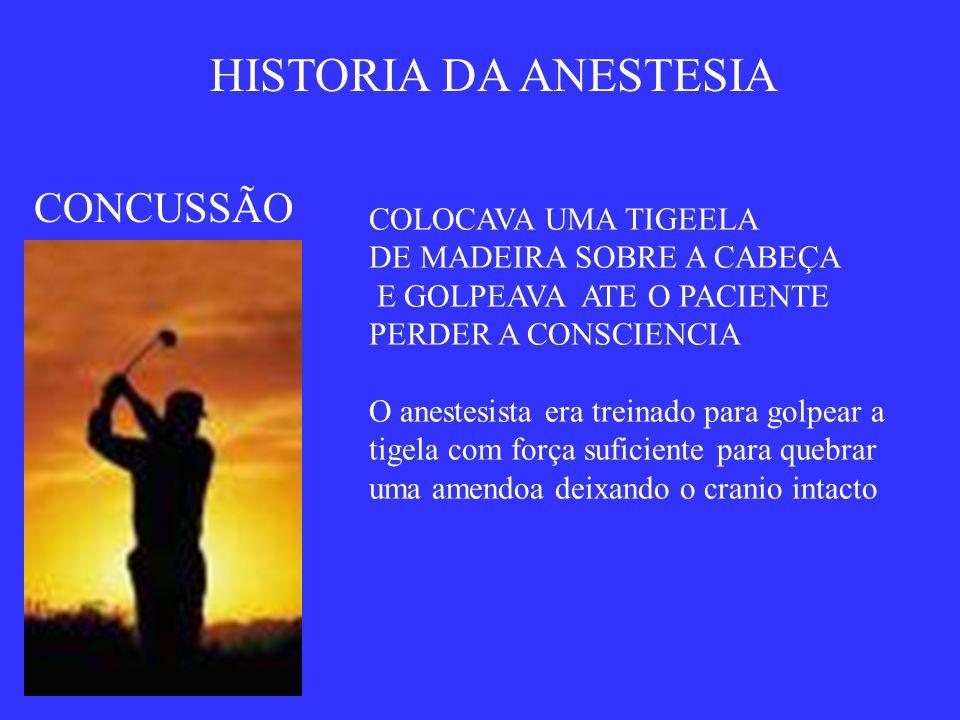 HISTORIA DA ANESTESIA CONCUSSÃO COLOCAVA UMA TIGEELA