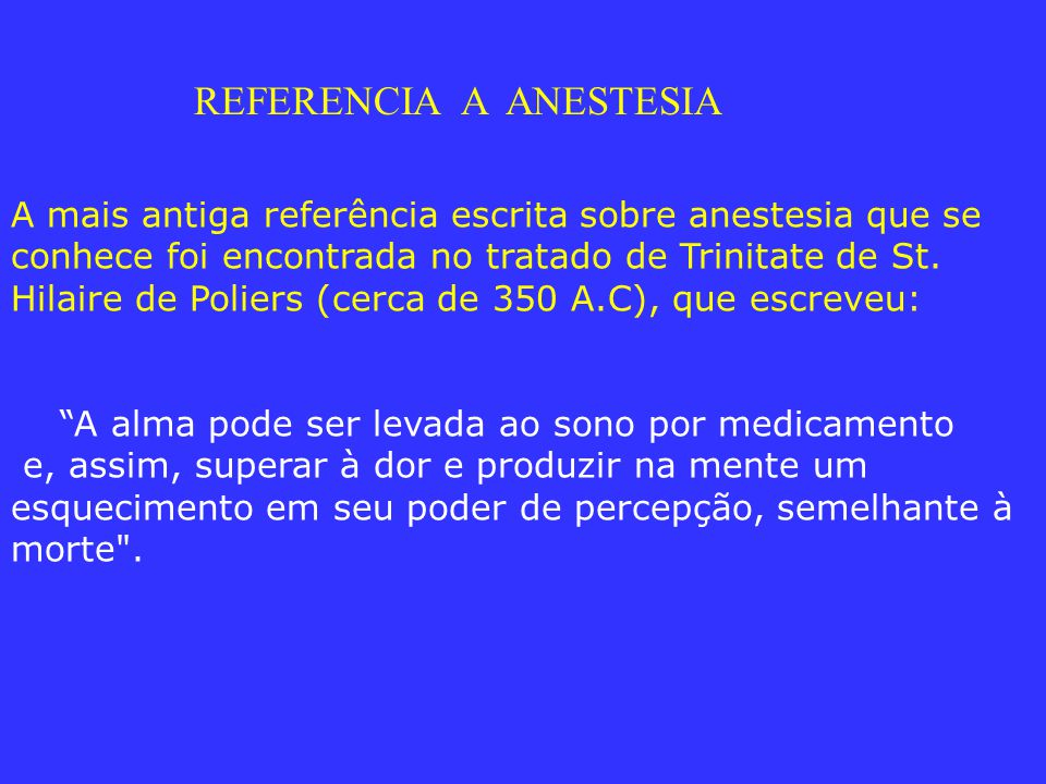 REFERENCIA A ANESTESIA
