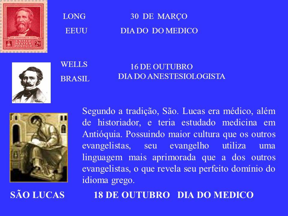 SÃO LUCAS 18 DE OUTUBRO DIA DO MEDICO