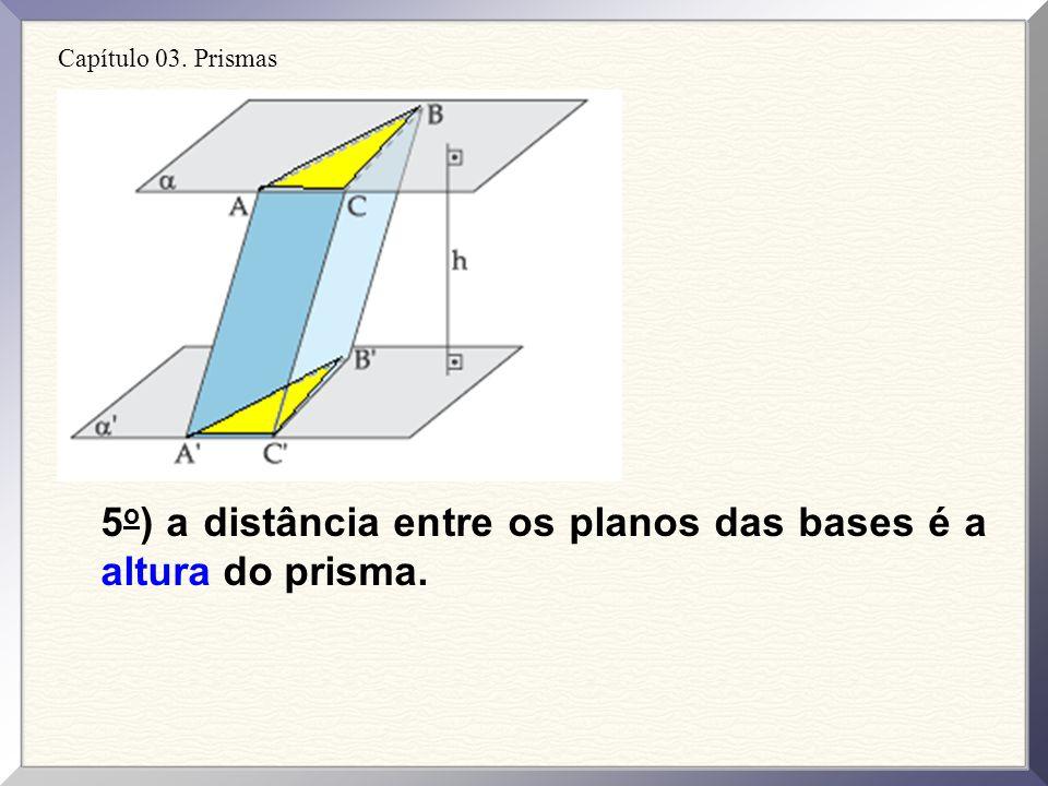 5o) a distância entre os planos das bases é a altura do prisma.
