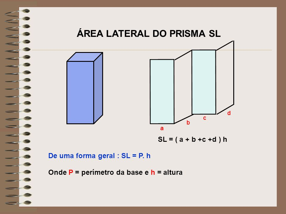 ÁREA LATERAL DO PRISMA SL