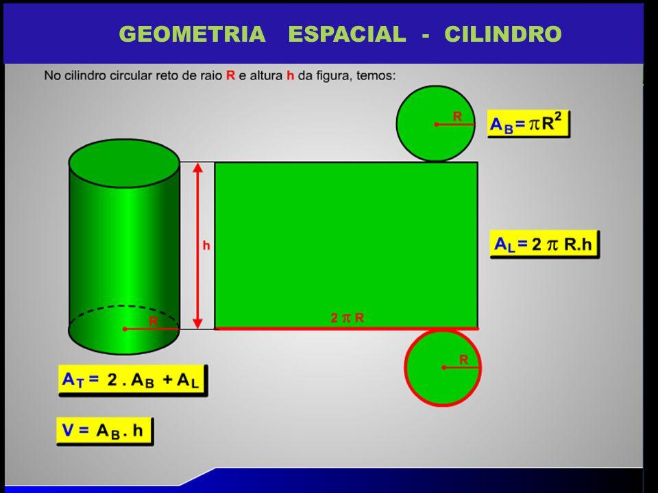 GEOMETRIA ESPACIAL - CILINDRO