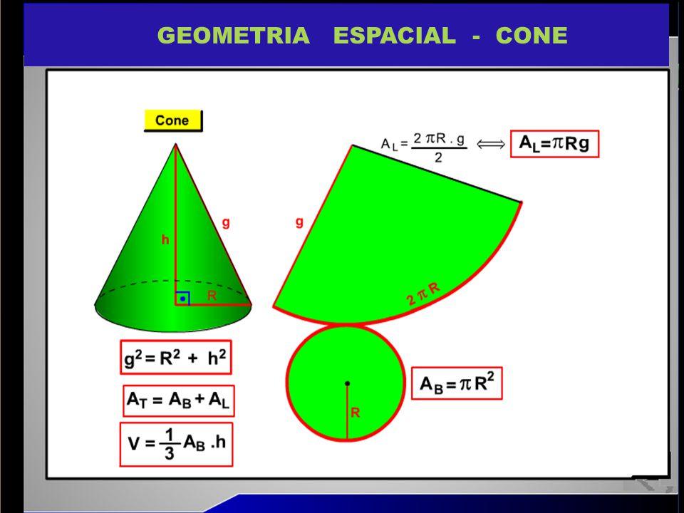 GEOMETRIA ESPACIAL - CONE