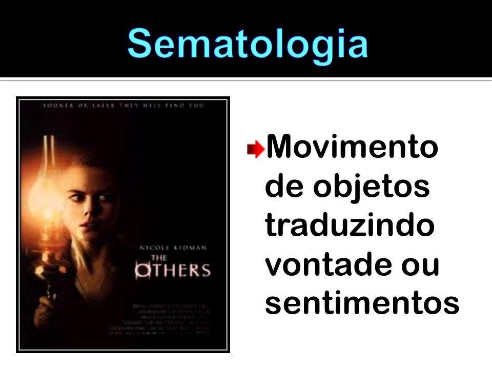 Sematologia Movimento de objetos traduzindo vontade ou sentimentos