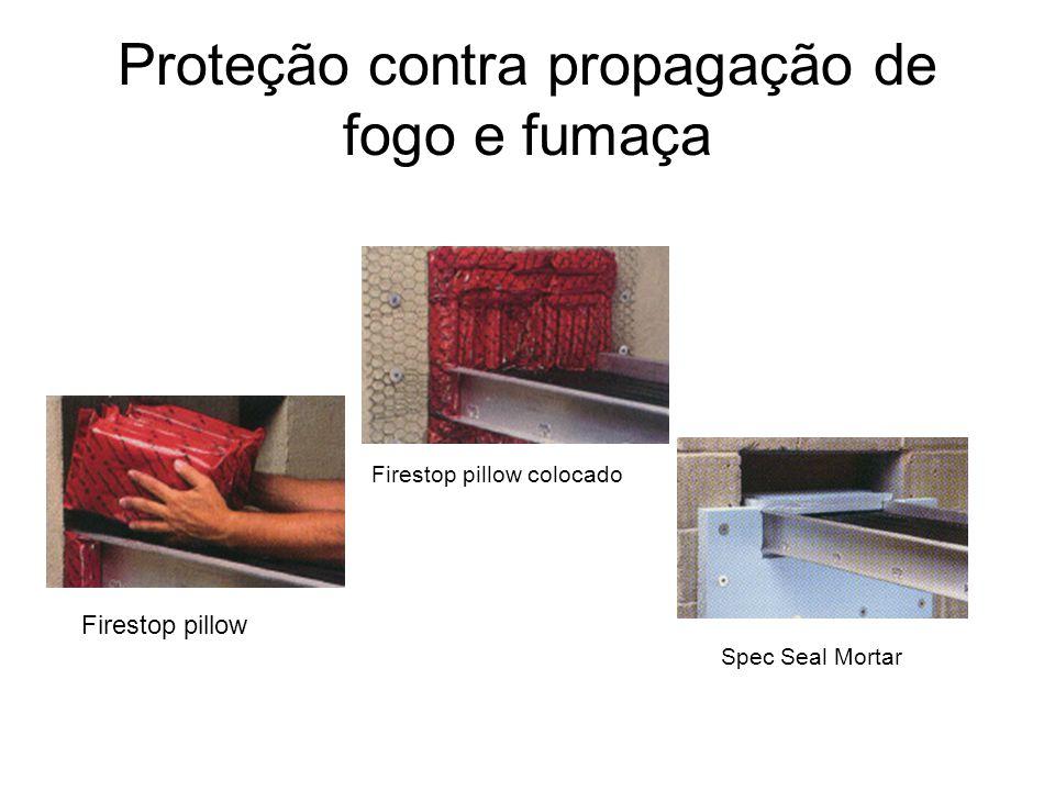 Proteção contra propagação de fogo e fumaça
