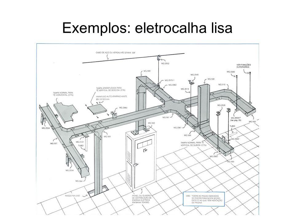 Exemplos: eletrocalha lisa