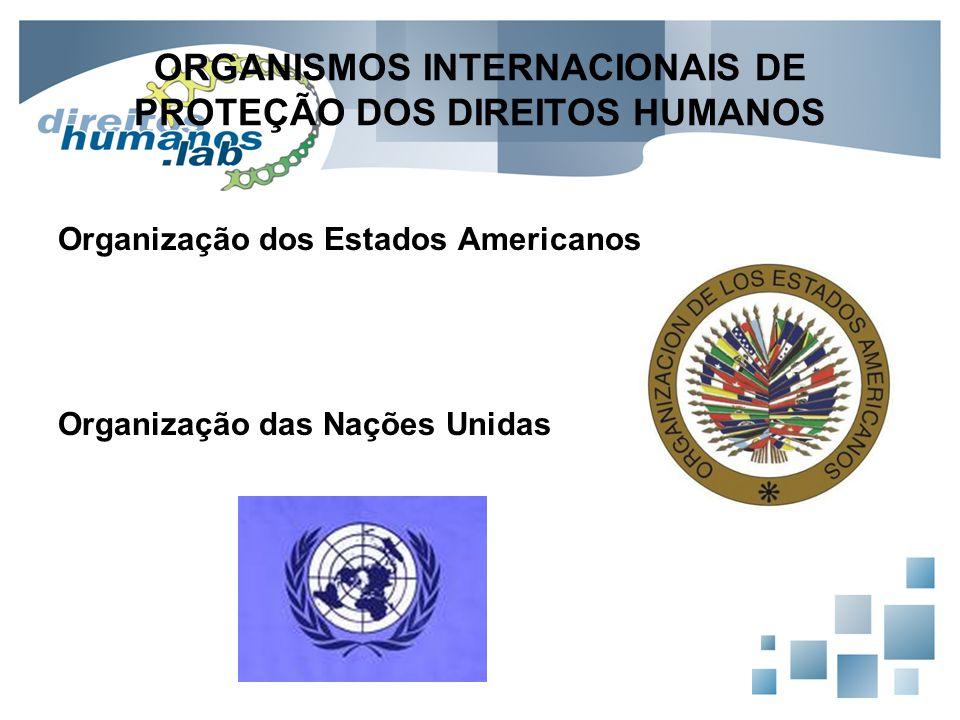 ORGANISMOS INTERNACIONAIS DE PROTEÇÃO DOS DIREITOS HUMANOS