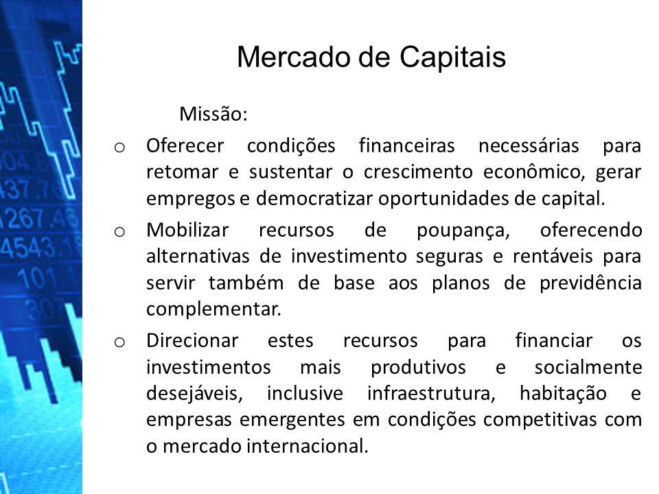 Mercado de Capitais Missão: