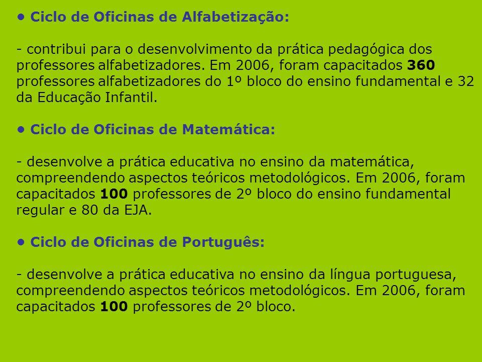 • Ciclo de Oficinas de Alfabetização: