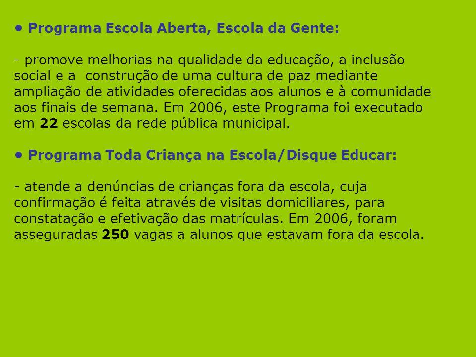 • Programa Escola Aberta, Escola da Gente: