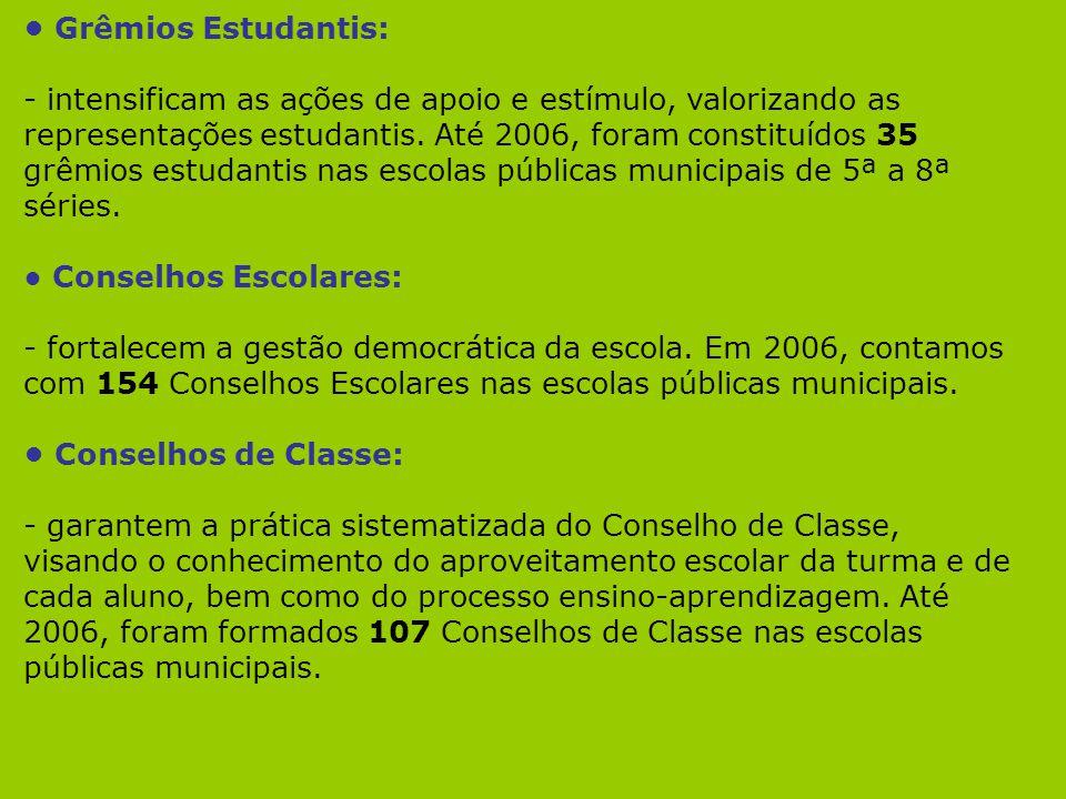 • Grêmios Estudantis: