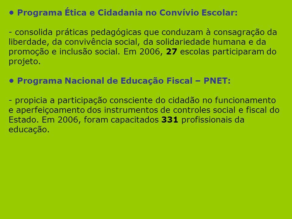 • Programa Ética e Cidadania no Convívio Escolar: