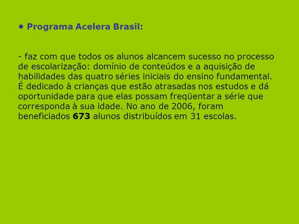• Programa Acelera Brasil: