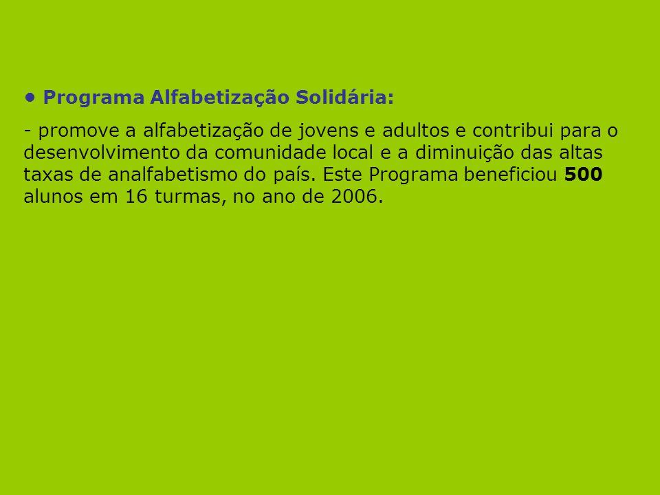 • Programa Alfabetização Solidária: