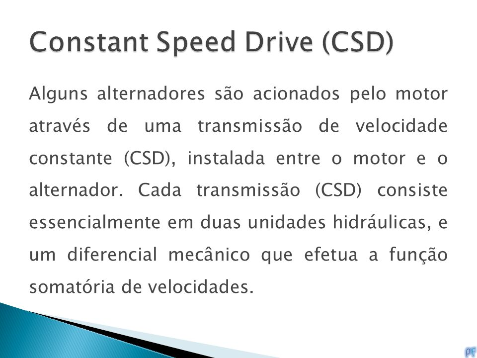 Constant Speed Drive (CSD)