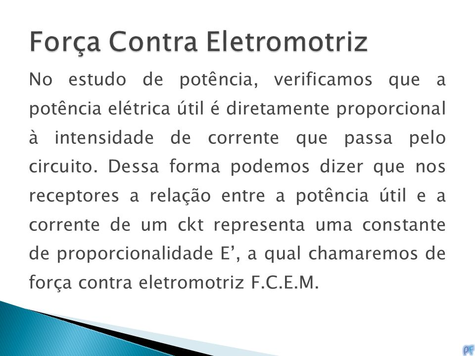 Força Contra Eletromotriz