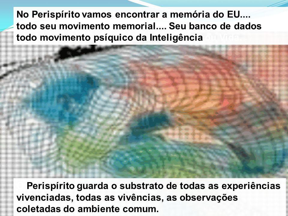 No Perispírito vamos encontrar a memória do EU....