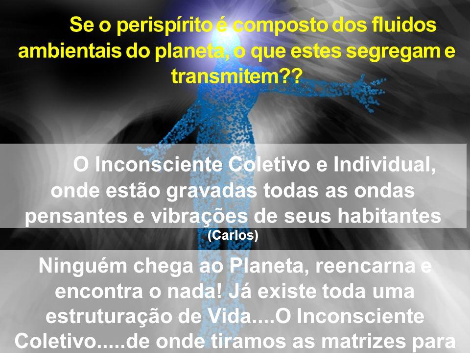 Se o perispírito é composto dos fluidos ambientais do planeta, o que estes segregam e transmitem