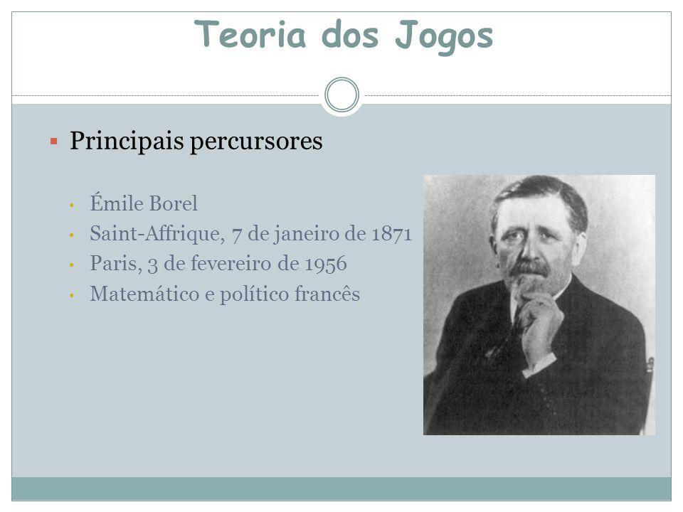 Teoria dos Jogos Principais percursores Émile Borel
