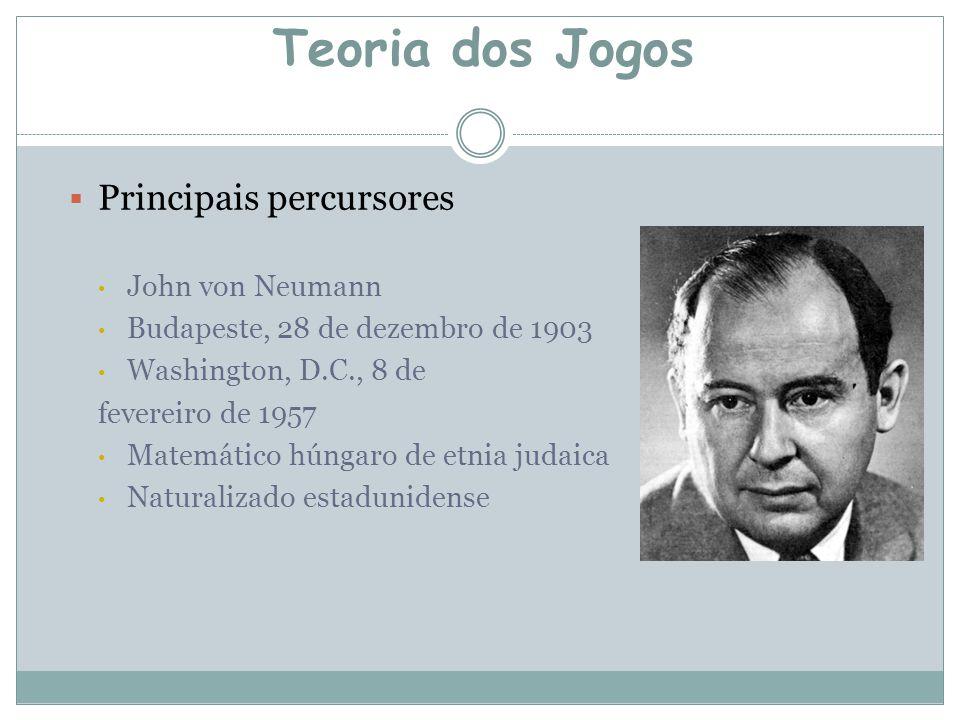 Teoria dos Jogos Principais percursores John von Neumann