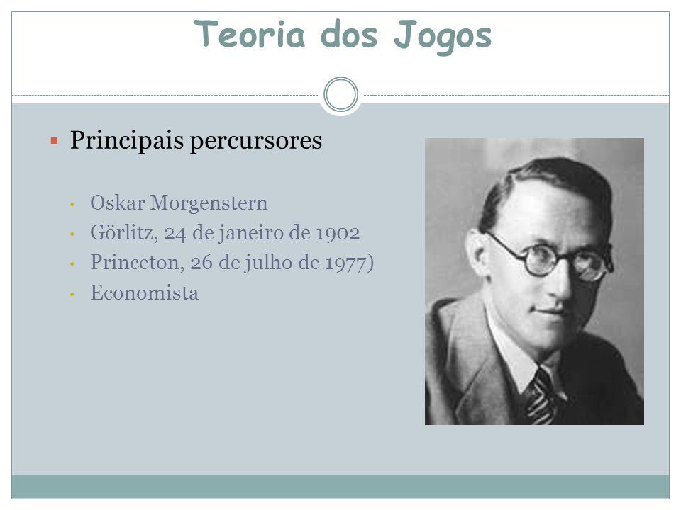Teoria dos Jogos Principais percursores Oskar Morgenstern