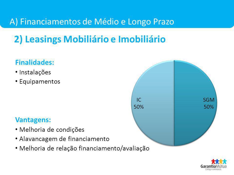 2) Leasings Mobiliário e Imobiliário