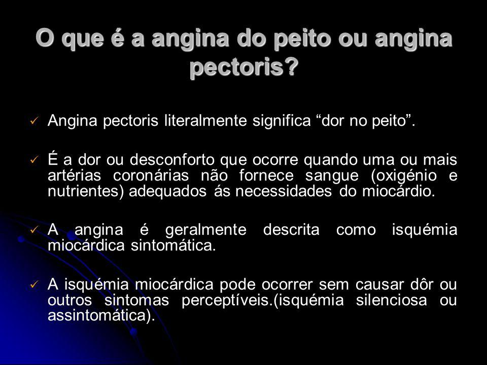 O que é a angina do peito ou angina pectoris