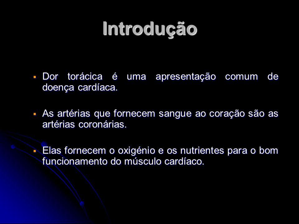 Introdução Dor torácica é uma apresentação comum de doença cardíaca.