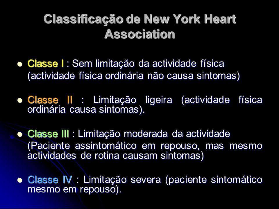 Classificação de New York Heart Association