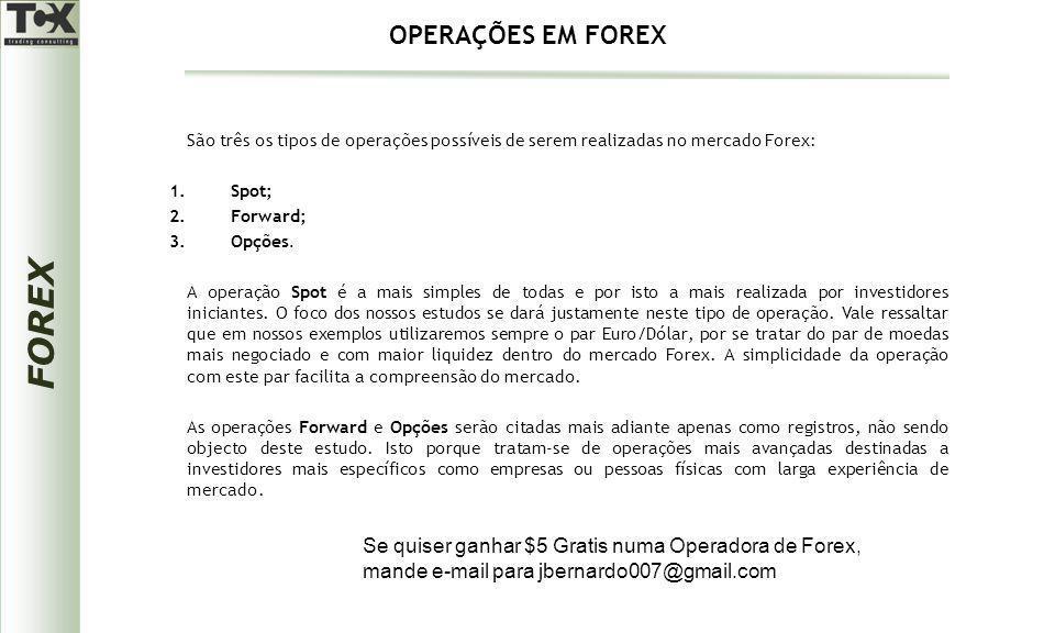 OPERAÇÕES EM FOREX Se quiser ganhar $5 Gratis numa Operadora de Forex,