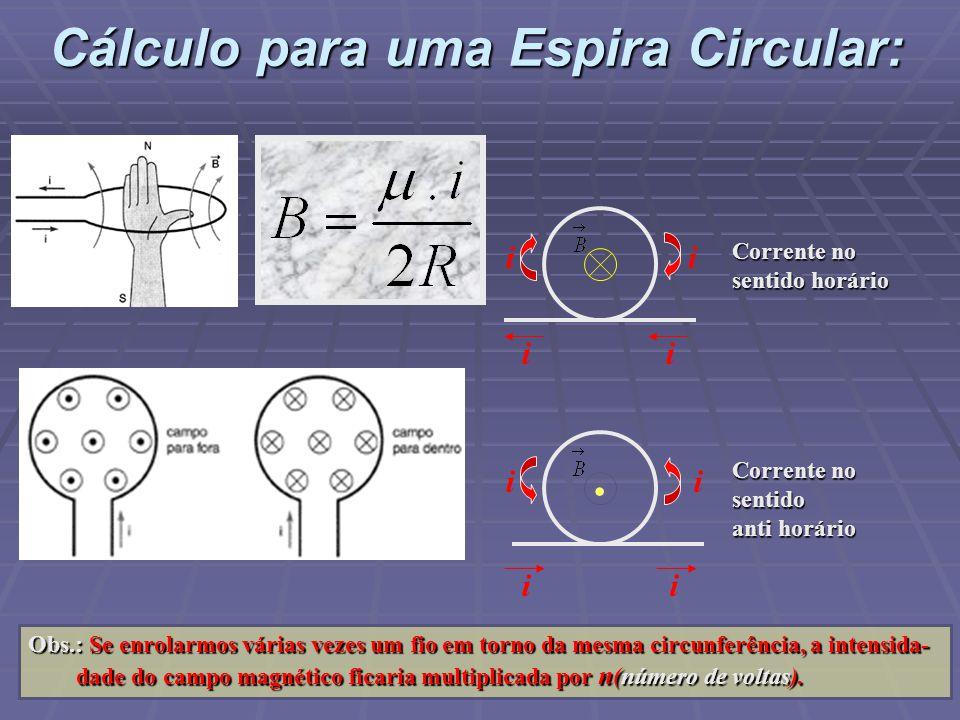 Cálculo para uma Espira Circular: