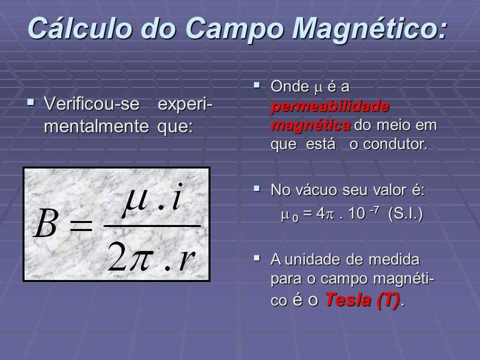 Cálculo do Campo Magnético: