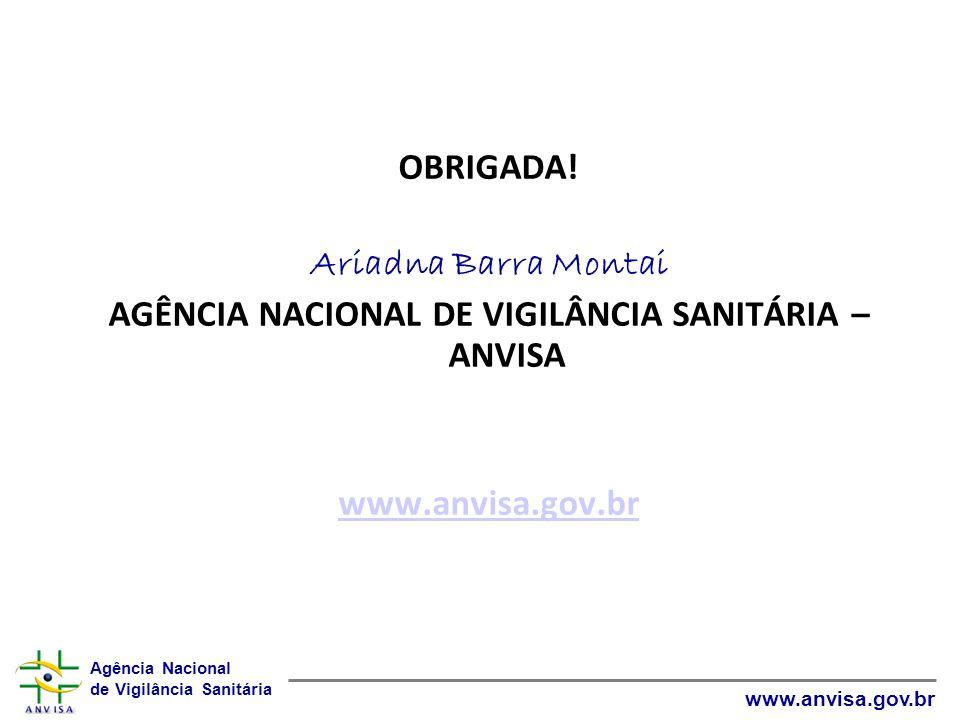 AGÊNCIA NACIONAL DE VIGILÂNCIA SANITÁRIA – ANVISA