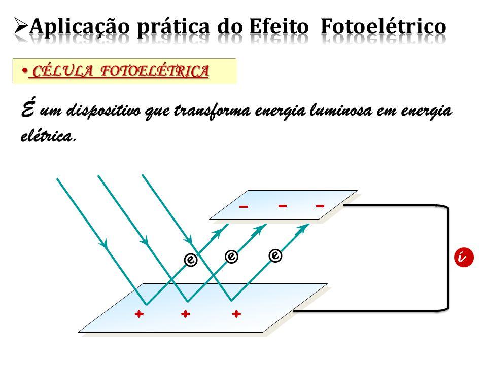 Aplicação prática do Efeito Fotoelétrico