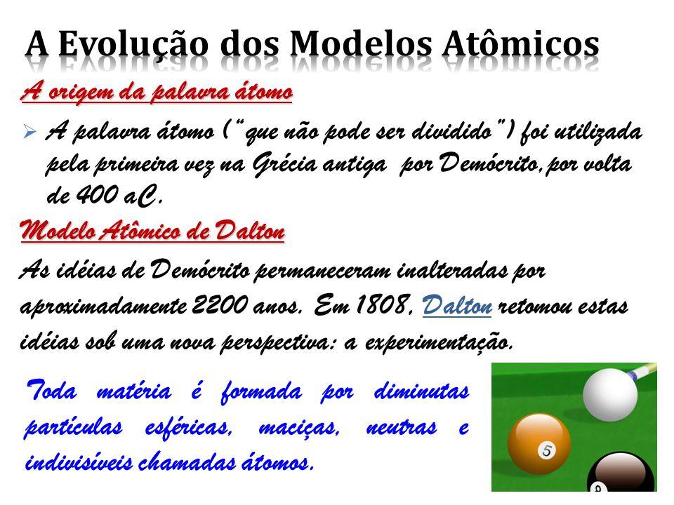 A Evolução dos Modelos Atômicos