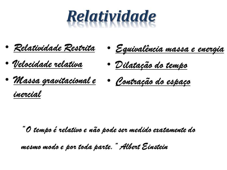 Relatividade Relatividade Restrita Equivalência massa e energia