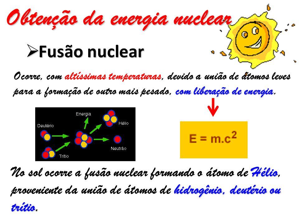 Obtenção da energia nuclear