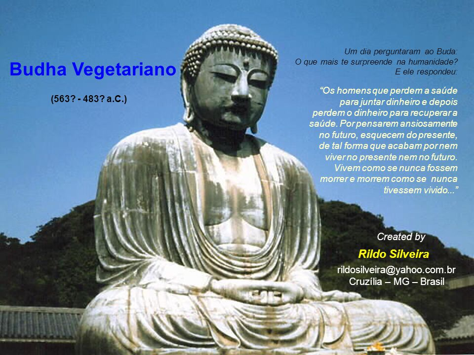 Budha Vegetariano Rildo Silveira Created by rildosilveira@yahoo.com.br