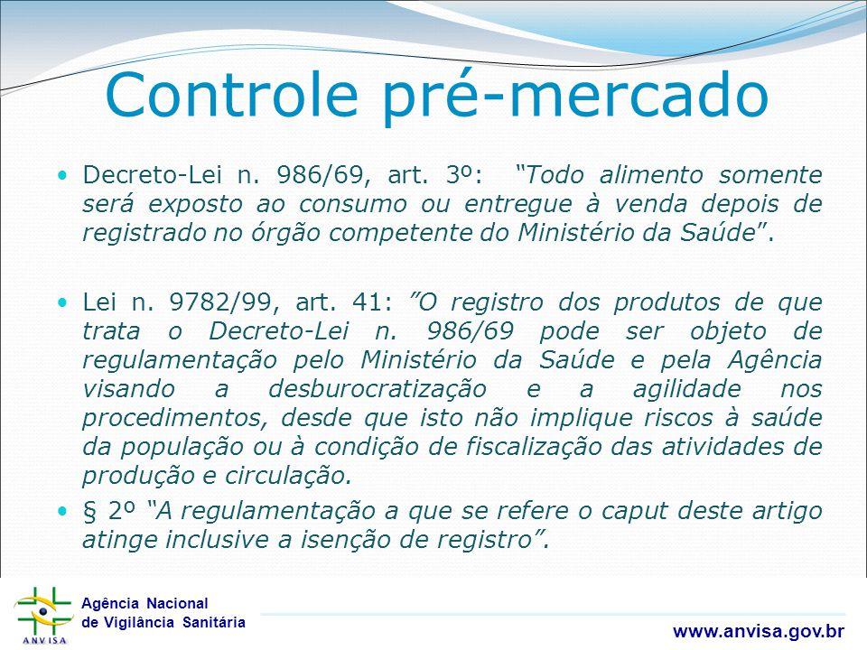 Controle pré-mercado